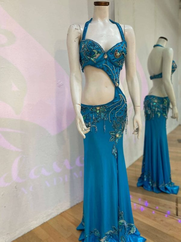 Blue Belly dance costume