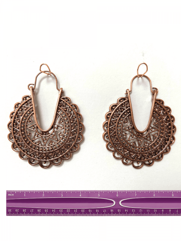 Moroccan earings bronze